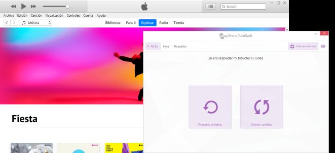 Respaldar biblioteca de iTunes