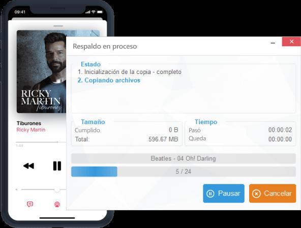 Transferir la música de iPhone a PC
