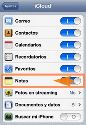como importar notas de icloud a iphone