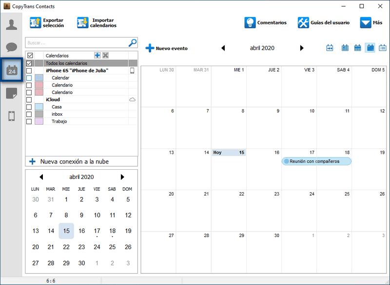 Calendario de iPhone