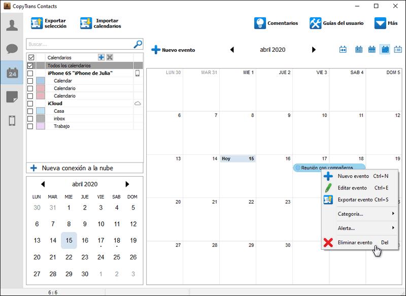 Eliminar evento de calendario iPhone