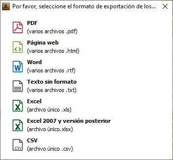 Exportar Mensajes elegidos a PC