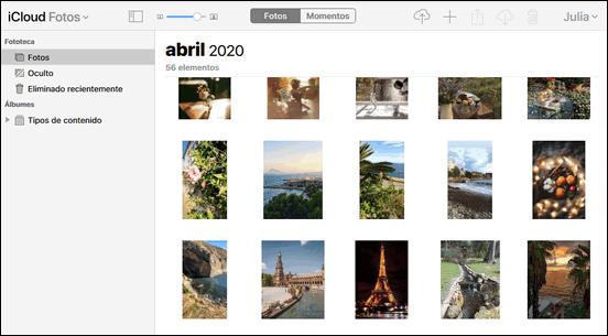 Otra opción de fotos iCloud Navegado