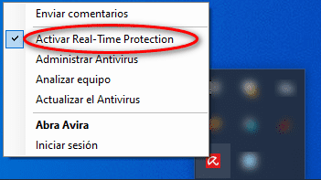 activar antivirus