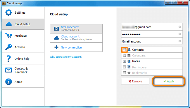 CTC remover contactos de Gmail