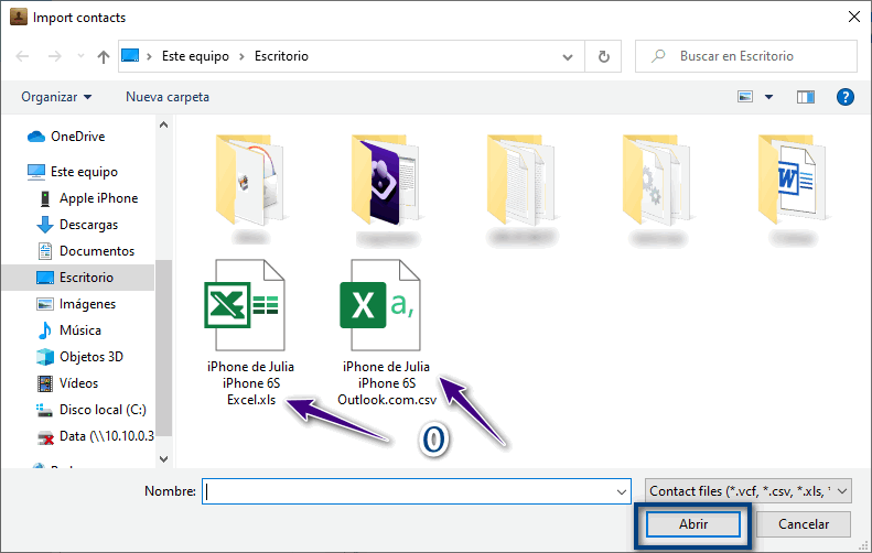 Elegir un archivo