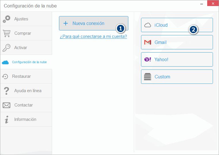 Nueva conexión iCloud