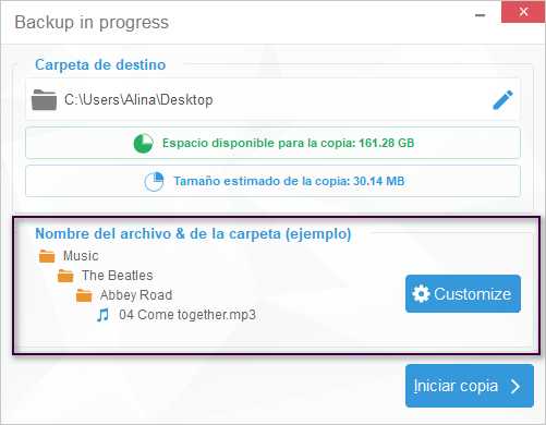 CopyTrans Configurar Programa