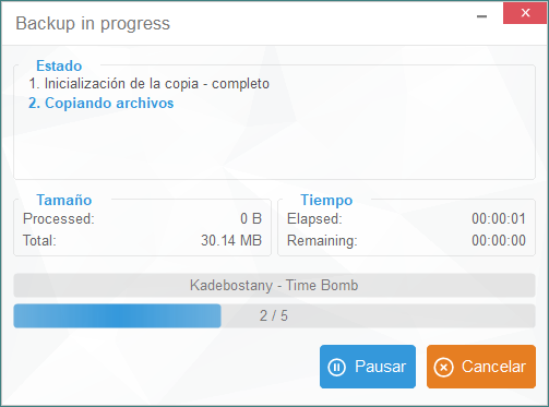 Copia en progreso CopyTrans
