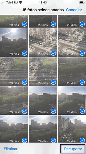 Recuperar Fotos eliminados en iPhone