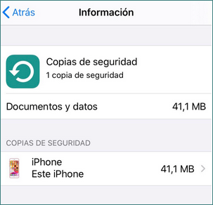 Encontrar Copia de Seguridad en iPhone