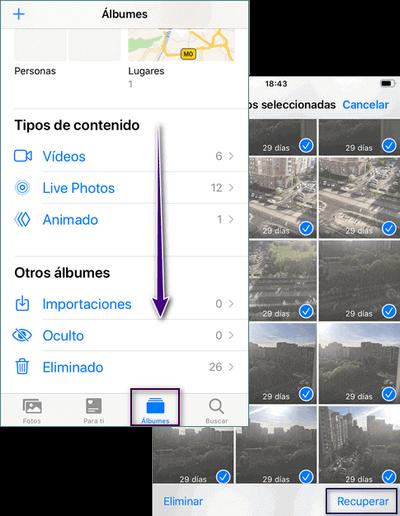 Recuperar Fotos borradas móvil