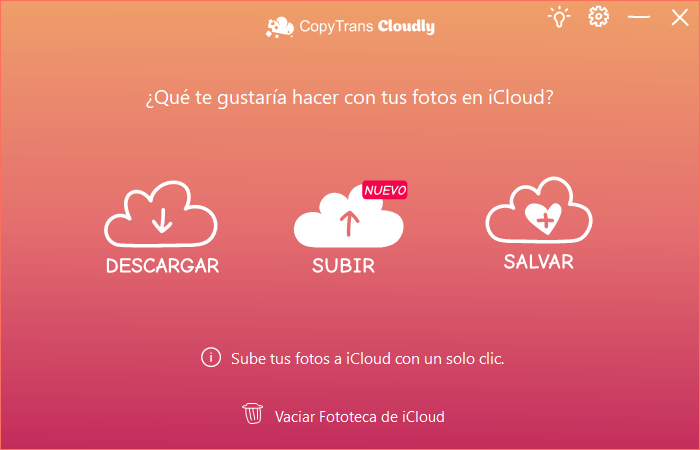 Subir en CopyTrans Cloudly