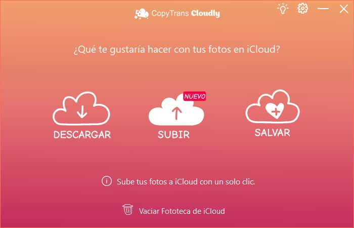 Subir Fotos en CopyTrans Cloudly