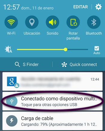 Barra de Notificaciones Android