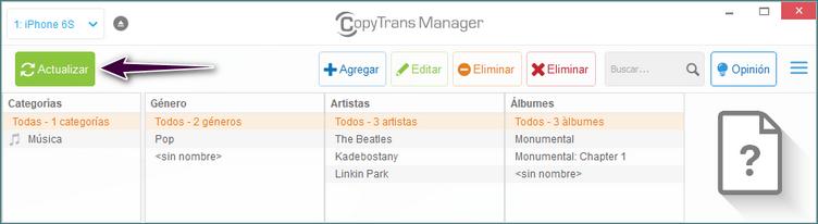 Actualizar CopyTrans Manager