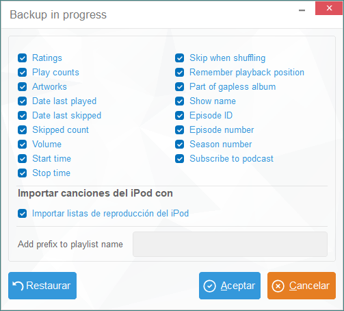 iTunes personalizado