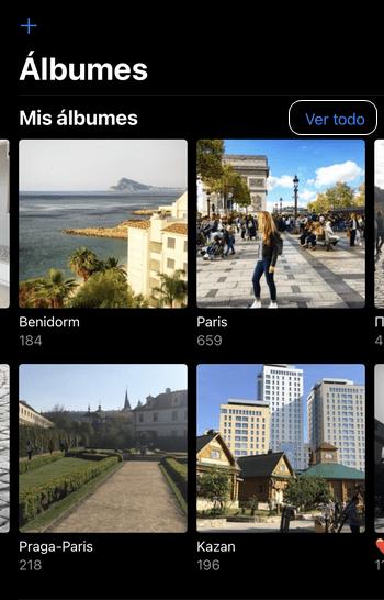 Álbumes de iPhone