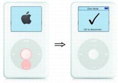 iPod en modo de disco duro
