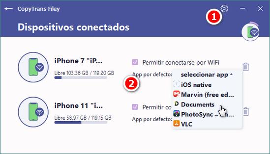 Elegir app