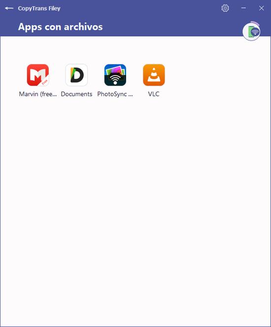 Apps del dispositivo