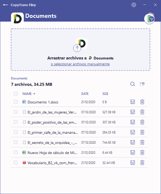 Todos los documentos de la app