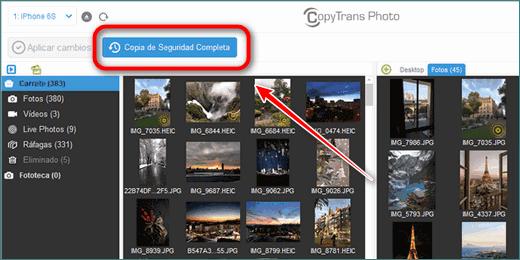 Copia Seguridad Completa de Fotos