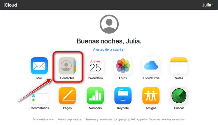 Pasar contactos de iphone a icloud