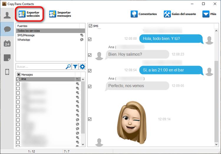 Exportar Mensajes de iPhone a PC