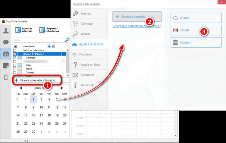 Pasar calendarios de Android a iPhone