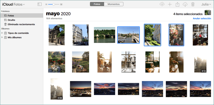 Guardar Fotos de iCloud