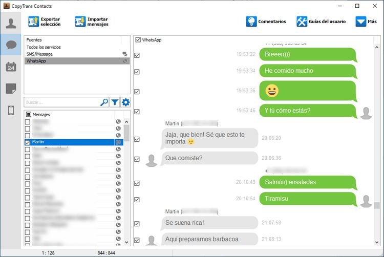 WhatsApp CopyTrans Contacts