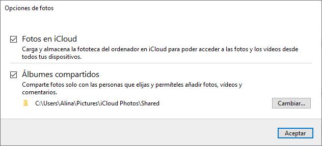Ajustes de iCloud