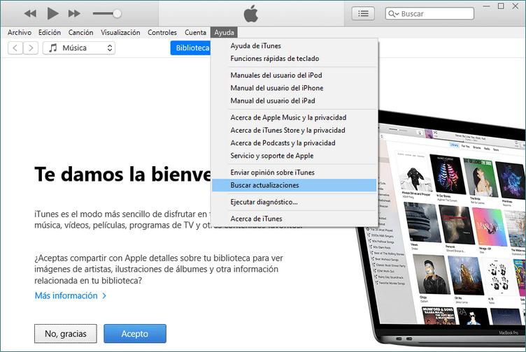 iTunes no reconoce mi iPhone