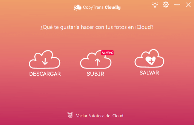 CopyTrans Cloudly ventana Principal