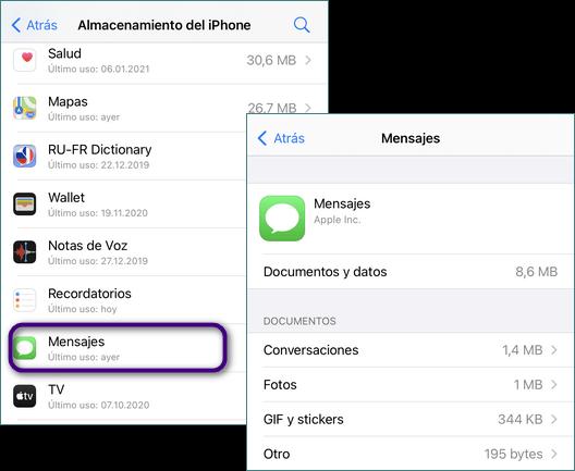 Como liberar espacio del iPhone